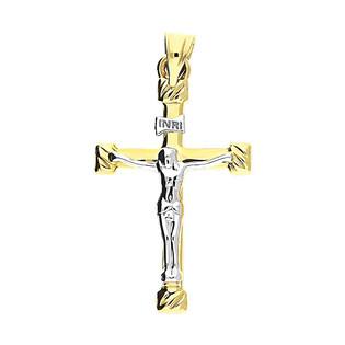 Krzyżyk złoty wizerunek blask ramiona rozszerzane GS P-YB-PND2173 próba 375