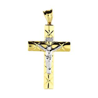 Krzyżyk złoty wizerunek romby ramiona kwadratowe GS P-YB-PXB180343 próba 375