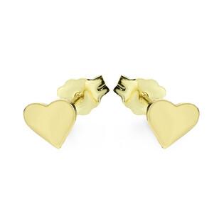 Kolczyki złote serce blask/sztyft MZ T23-E-0218-1-LZ próba 333