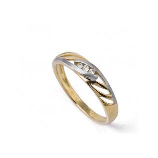 Złoty pierścionek zaręczynowy BRAID ażurowy z diamentem BU 536305 GS próba 375 Sezam - 1