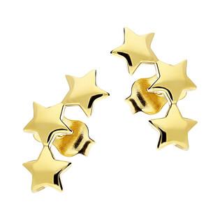 Kolczyki gwiazdki x3 w łuku/sztyft AR XXE13124 próba 585