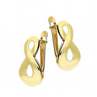 Kolczyki złote symbol nieskończoności, gladkie, angielskie zapięcie nr AR XXNSE8112 próba 333 Sezam - 1