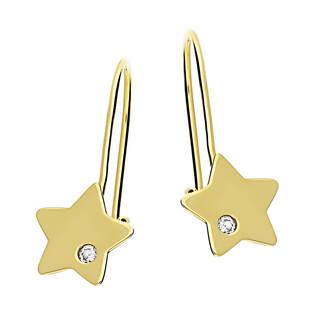 Kolczyki złote gwiazdka z cyrkonią MZ T23-E-0219-9-LZ-CZ próba 585