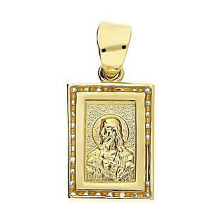 Medalik Matka Boska Bolesna z cyrkoniami AR X7-X7ZP0196 próba 585