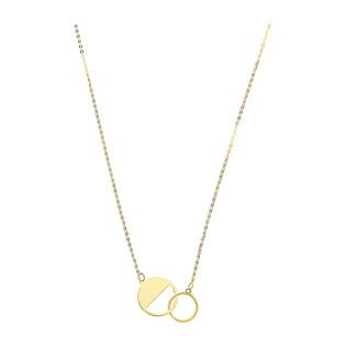Naszyjnik złoty klanówka kółko półpełne BC59 próba 585
