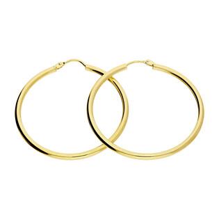 Kolczyki złote kółka szarniry 35mm BC53-2 próba 585