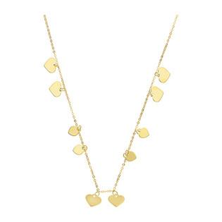 Naszyjnik złoty serca wiszące blask x10 BC57 próba 585