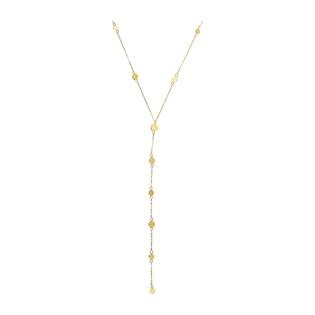 Naszyjnik złoty kółka blask x10/krawatówka BC58 K próba 585