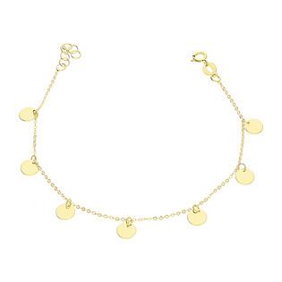 Bransoleta złota kółka wiszące blask x7/rolo BC58 K-1 próba 585