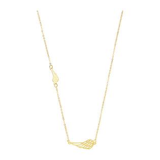 Naszyjnik złoty dwa ażurowe skrzydła/rolo BC60 próba 585