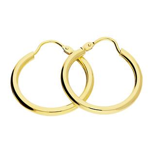 Kolczyki złote kółka szarniry 20mm BC53 próba 585