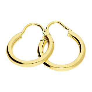 Kolczyki złote kółka szarniry 14mm/zawias BC53-3 próba 585