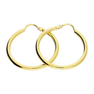 Kolczyki złote kółka szarniry 25mm/zawias BC53-1 próba 585