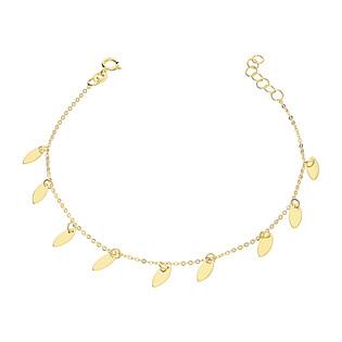 Bransoleta złota krople wiszące blask x9/rolo BC62 próba 585