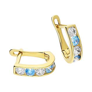 Kolczyki złote dla dziewczynki nr MZ T5-A3 próba 585 Sezam - 1