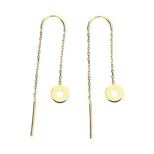 Kolczyki złote dysk/przeciągane nr MZ T5-E-CS-14 próba 585