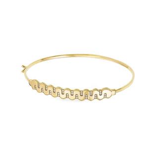 Bransoleta złota bangle fala blask z cyrkoniami PY BLZ0927 próba 375
