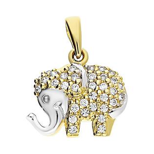 Zawieszka słoń z cyrkoniami M2 14-2527 próba 585