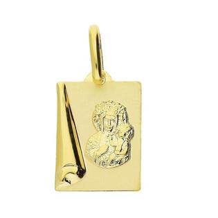 Medalik złoty z wizerunkiem Matki Boskiej Częstochowskej nr CB M-0554-M-08 próba 333 Sezam - 1