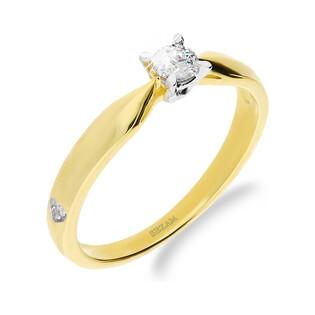Pierścionek SOLITER złoty z diamentem GR 4ł-0,176ct DJ 02DTC próba 585