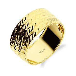 Pierścionek złoty obrączka grawerowana BC52 próba 585