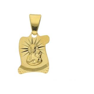 Medalik złoty Matka Boska Częstochowska nr MV MD282 Au 585