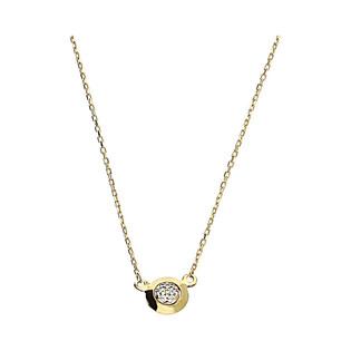 Naszyjnik złoty kółko z cyrkonią w środku MZ T42-E-11-LZ-CZ-T42-N-11-LZ-CZ próba 375