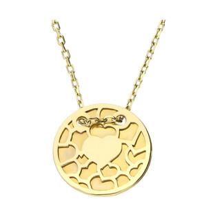 Naszyjnik złoty kółko z wzorem ażurowych serc/anker MZ T23-N-0218-1-LZ próba 585