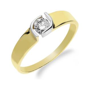 Pierścionek złoty cyrkonia w oku NB 50506 próba 585