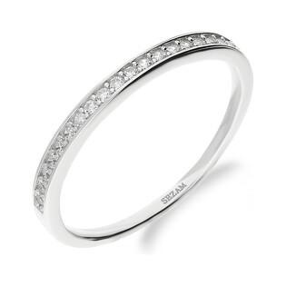Pierścionek srebrny rings z cyrkoniami HS1233 próba 925