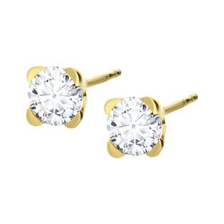 Kolczyki złote z cyrkoniami nr AR I6CE3499-FCZ próba 585 Sezam - 1