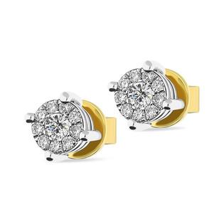 Kolczyki z diamentami MIRAGE/sztyft nr AW 40363 YW próba 585