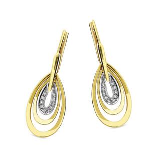 Kolczyki złote łezki z diamentami nr BU 735450-735450 próba 375