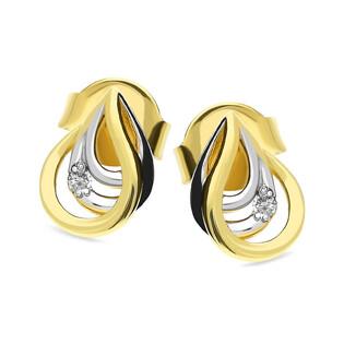 Kolczyki złote z diamentami nr BU 735613-735197