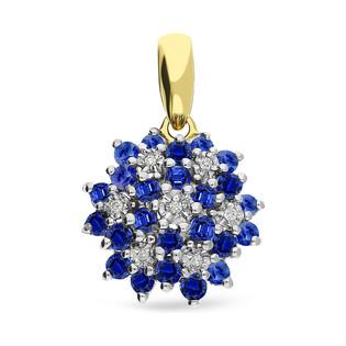 Zawieszka złota z diamentami i szafirami BRIDELL nr DI 507 SA próba 585