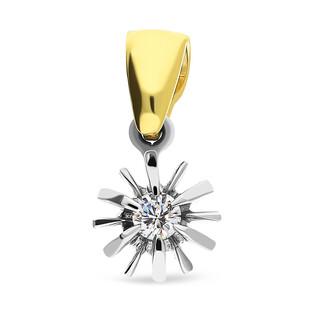 Zawieszka z diamentem FLOWER nr GR 170 próba 585