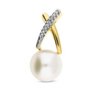 Zawieszka złota z perłą i diamentmi nr KU 2883-3048 próba 585