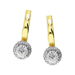 Kolczyki zlote z diamentami MIRAGE Magic nr KU 101416 Y próba 585