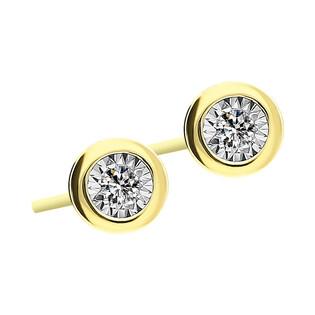 Kolczyki złote z diamentami nr RO KE101