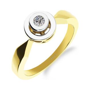 Pierścionek zaręczynowy JUBILE z diamentem nr GP 0198 próba 585 JUBILE