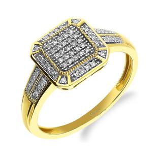 Pierścionek zareczynowy MIRAGE z diamentami nr KU 5329-102028 próba 585