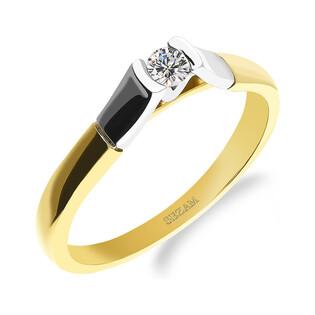 Pierścionek zaręczynowy z diamentem nr M2 62 próba 585 ETERNO