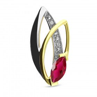 Zawieszka złota z diamentami i rubinem nr BU 345088-320324