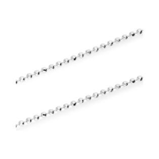Łańcuszek srebrny typu bead BC 1580-100 ROD próba 925