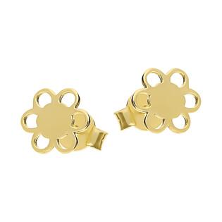Kolczyki złote ażurowy kwiatek/sztyft CA Y17CKP180013 próba 585