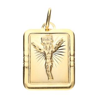Medalik złoty blaszka z Panem Jezusem nr CB M-0637-OP73 próba 585