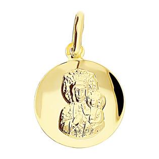 Medalik złoty Częstochowska w żłobionym kółku CB CPP-210-M-08 próba 333