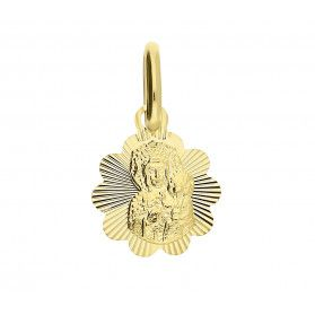 Medalik złoty Częstochowska koło ażur CB M-0834 próba 333