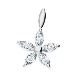 Zawieszka srebrna kwiatek z białymi cyrkoniami A6 08671731-00 próba 925