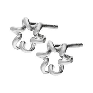 Kolczyki srebrne kwiat sprężynka/sztyft HS1190 próba 925
